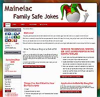 Maineiac Site of Jokes & Games
